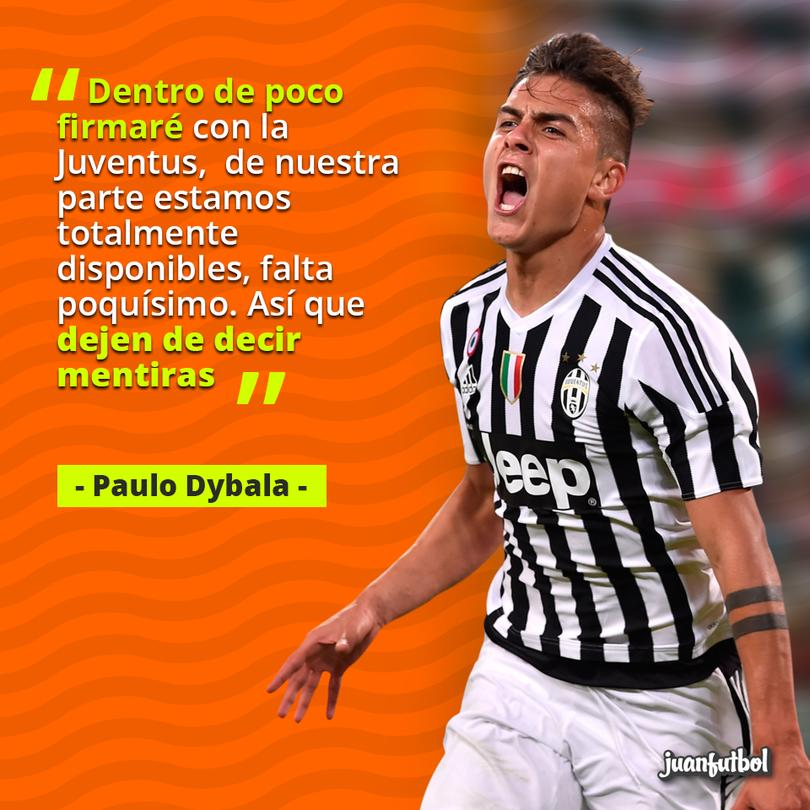 Dybala desmiente rumores que lo ponen fuera de la Juventus.
