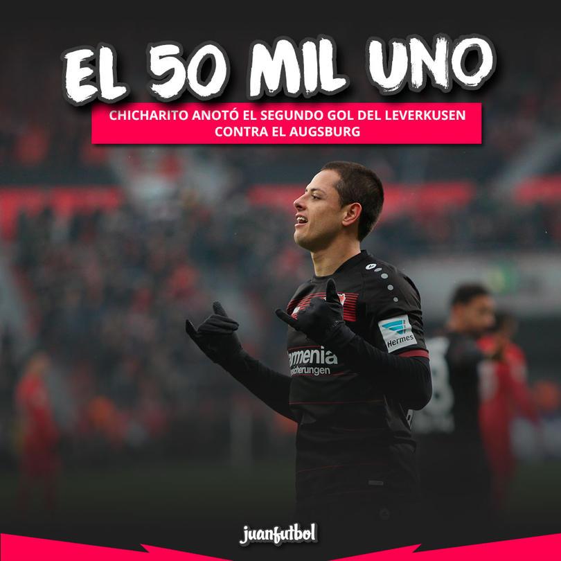 Chicharito anotó el gol 50,001