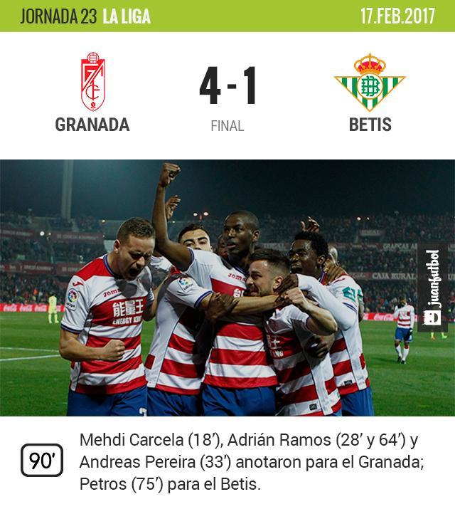 Granada celebra triunfo ante el Betis