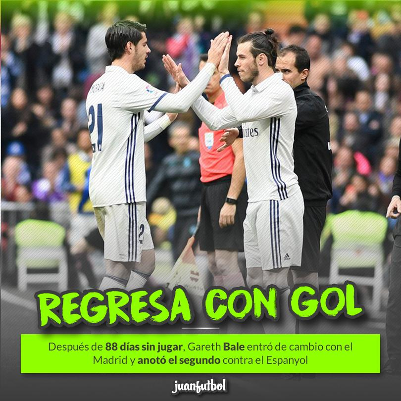 Bale regresó con gol