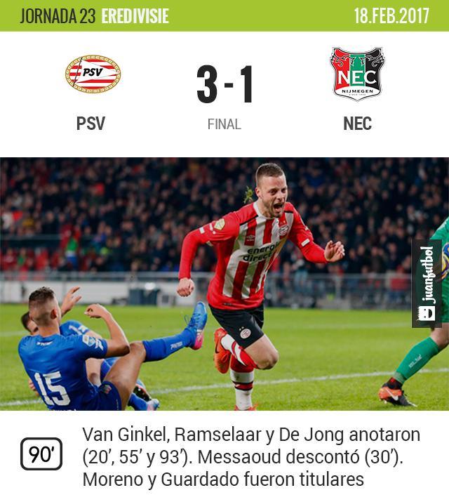 PSV ganó