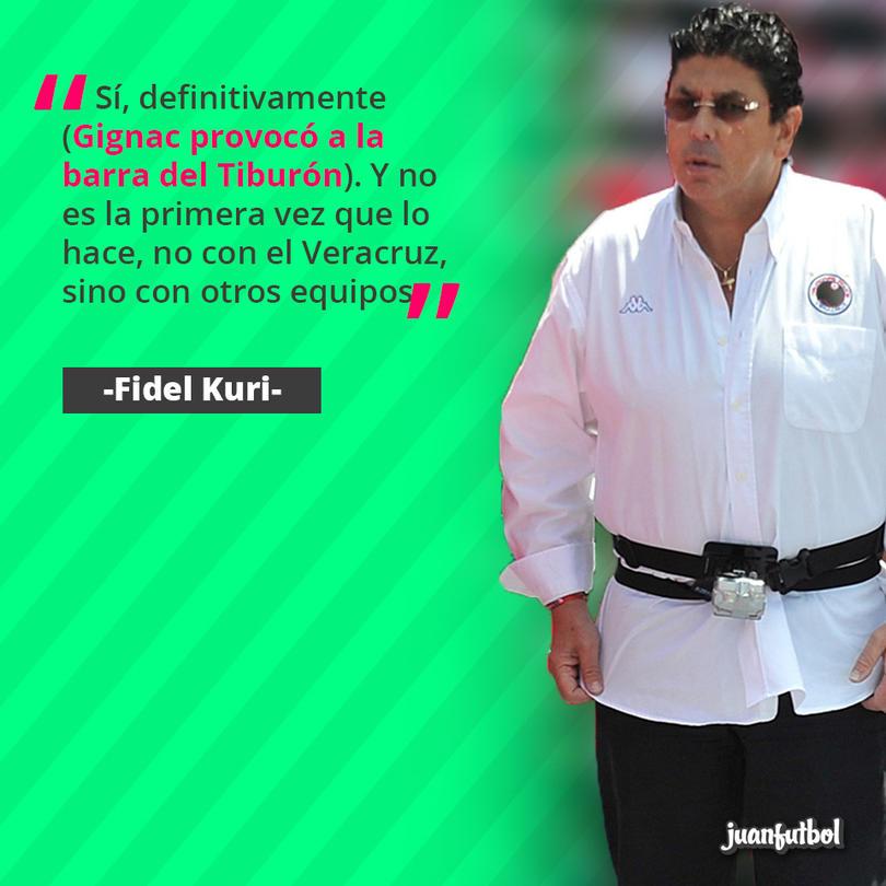 Fidel Kuri habló de la situación que pasó en el partido ante Tigres