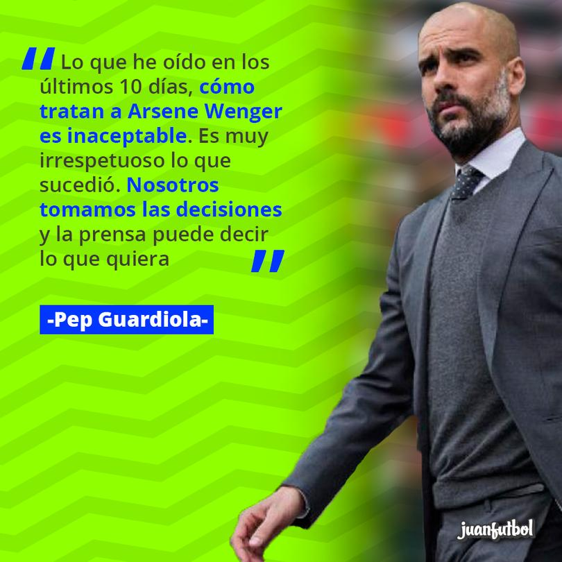 Guardiola defendió a Arsene Wenger