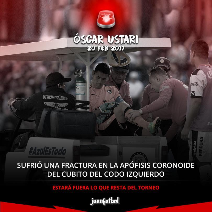 Óscar Ustari estará fuera lo que resta del torneo
