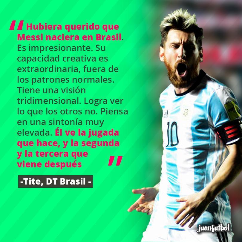 Tite querría que Messi fuera brasileño