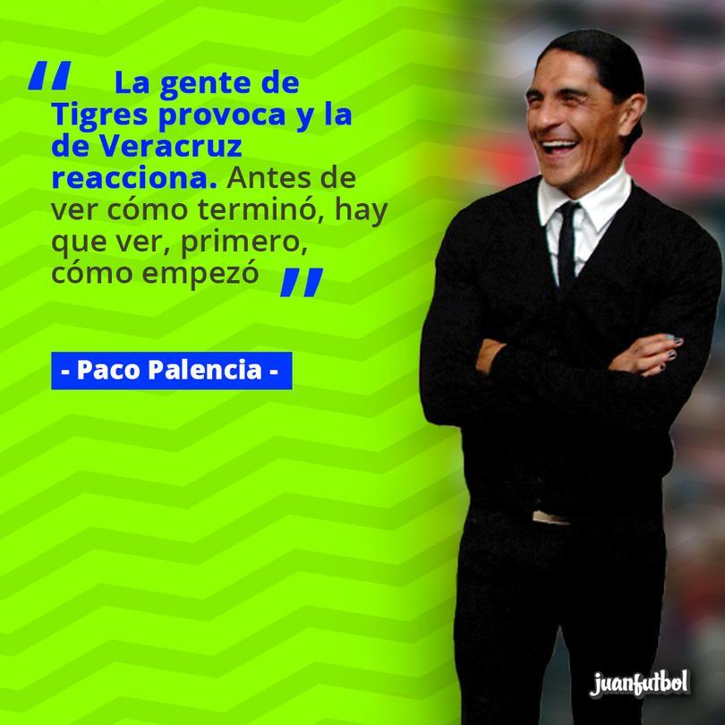 Palencia afirma que la culpa es de Tigres y no de Veracruz.
