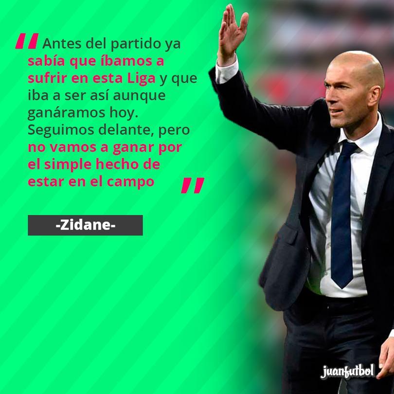 Zidane sobre el resultado ante el Valencia
