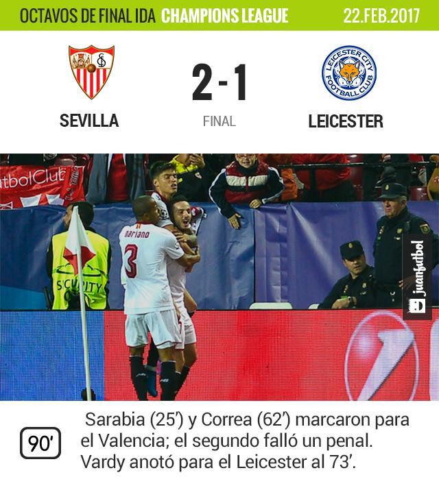 Sevilla gana al Leicester.