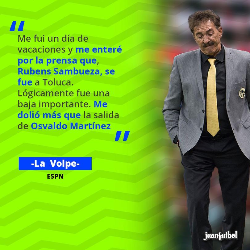 Ricardo La Volpe habló de la salida de Sambueza