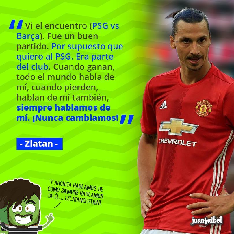 Zlatan dice que sólo hablamos de él... ¡y tiene razón!
