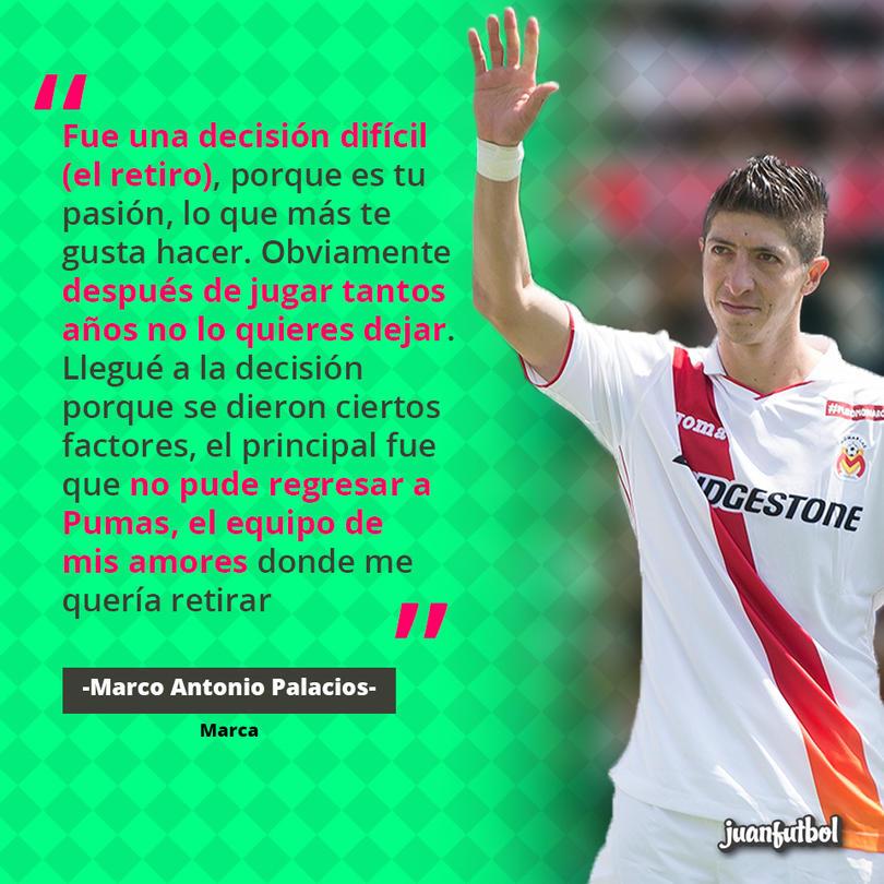 Marco Antonio Palacios es jugador de Pumas y Morelia