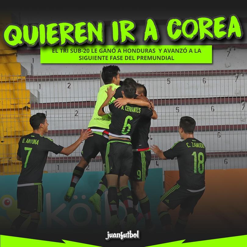 El Tri sub 20 le ganó a Honduras y avanzó en el Premundial de Concacaf