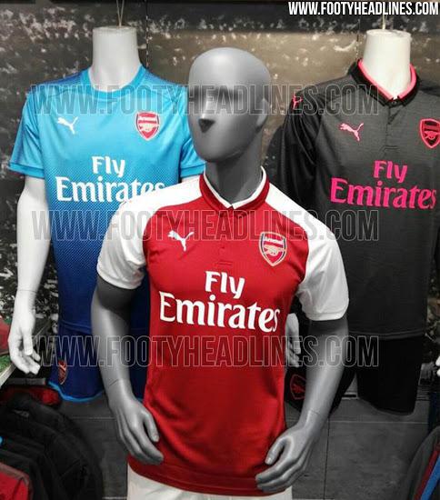 Así serán las camisetas del Arsenal para la siguiente temporada