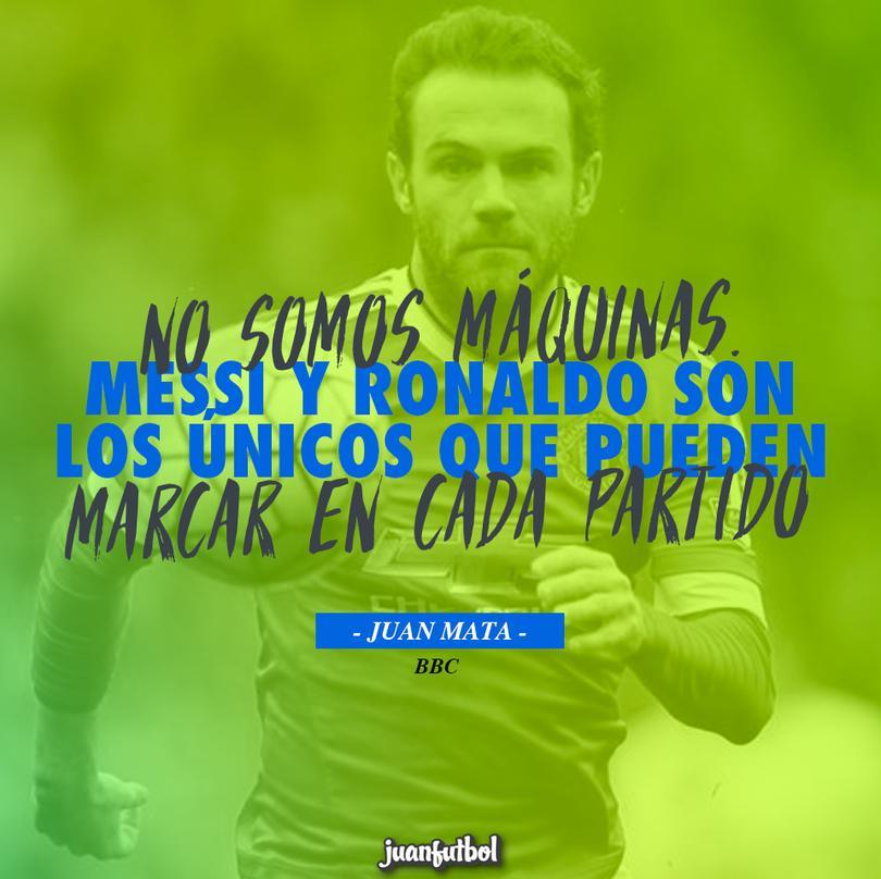 Mata defiende a Pogba y dice que sólo Messi y CR7 pueden marcar todos los partidos