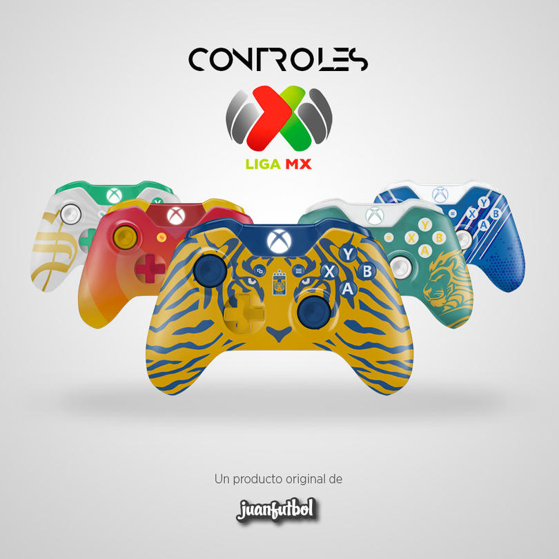 Los controles de xbox one de la Liga MX