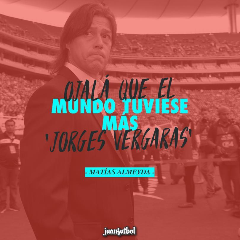 Almeyda dice que ojalá que el mundo tuviese más Jorges Vergaras