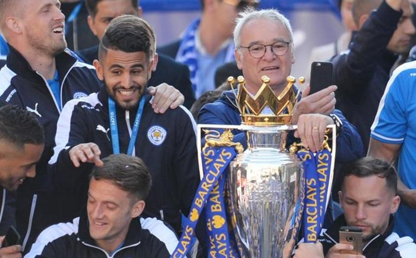 El mensaje de despedida de Mahrez a Ranieri