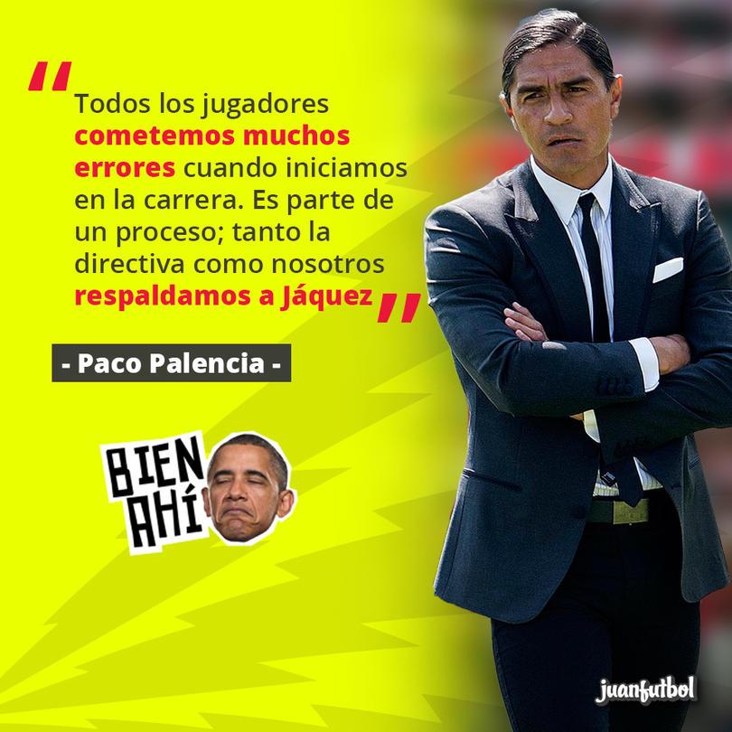 Pese a los errores, Palencia respalda a Jáquez
