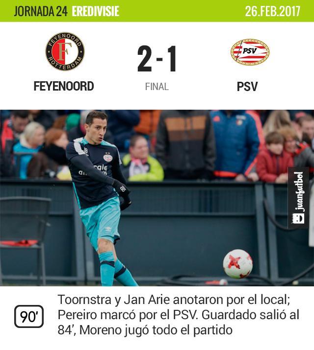 Con gol de tecnología, el PSV de Guardado y Moreno perdió.