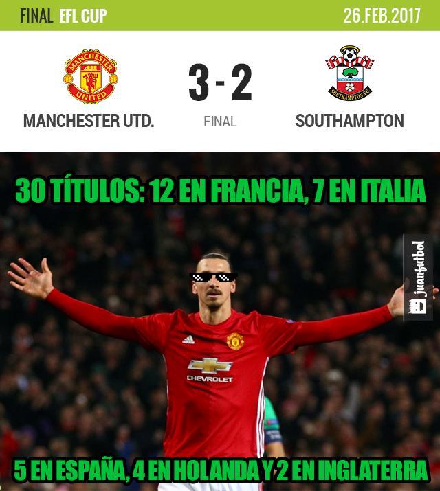 Zlatan gana otro título para el United