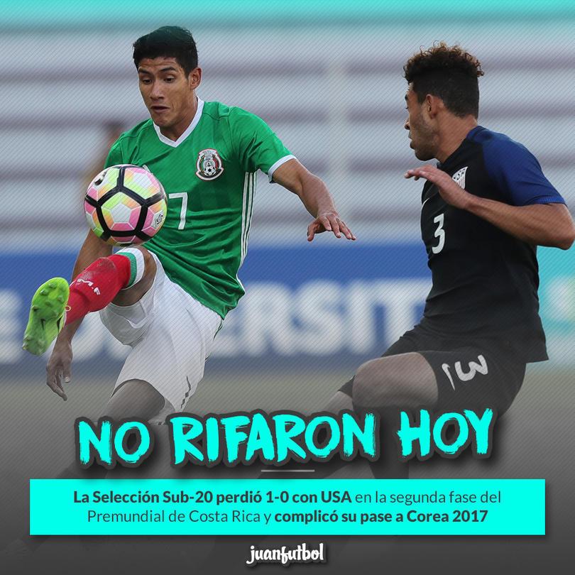 El Tri Sub-20 cayó en el Clásico de la CONCACAF