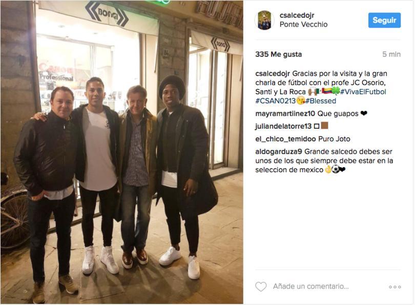 Juan Carlos Osorio visitó a Carlos Salcedo