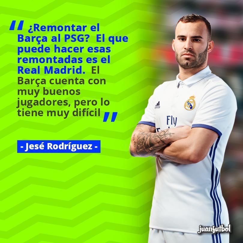 Jesé afirma que el Real Madrid es el único que podría remontar el marcador frente al PSG.