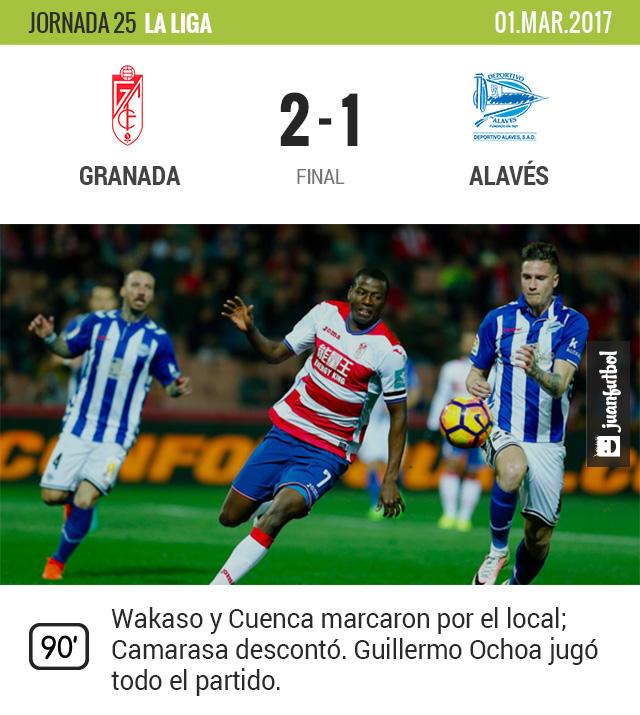 Ochoa jugó en el triunfo del Granada