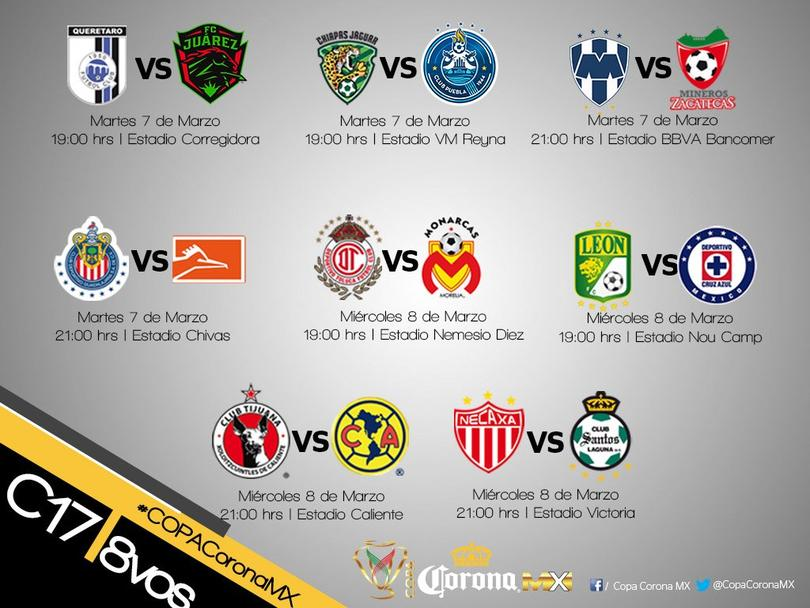 Listos los horarios de la Copa MX