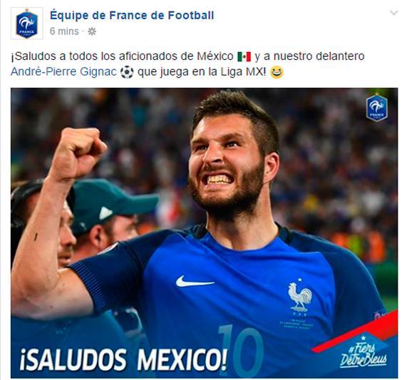 Gignac es parte de la Selección de Francia