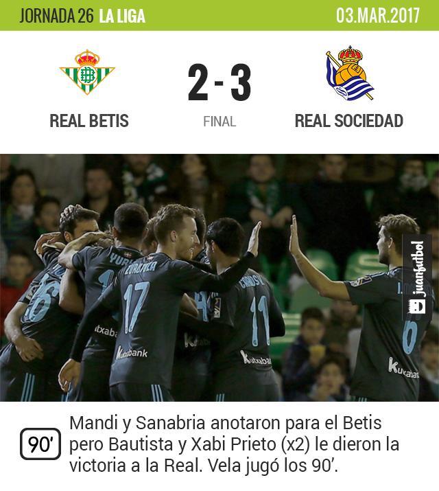 La Real ganó de visita contra el Betis