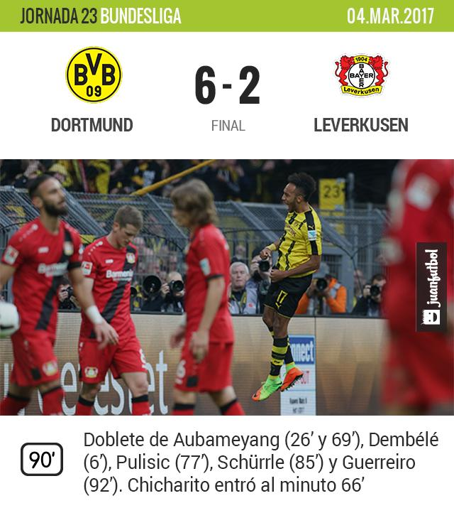 Leverkusen perdió por goleada