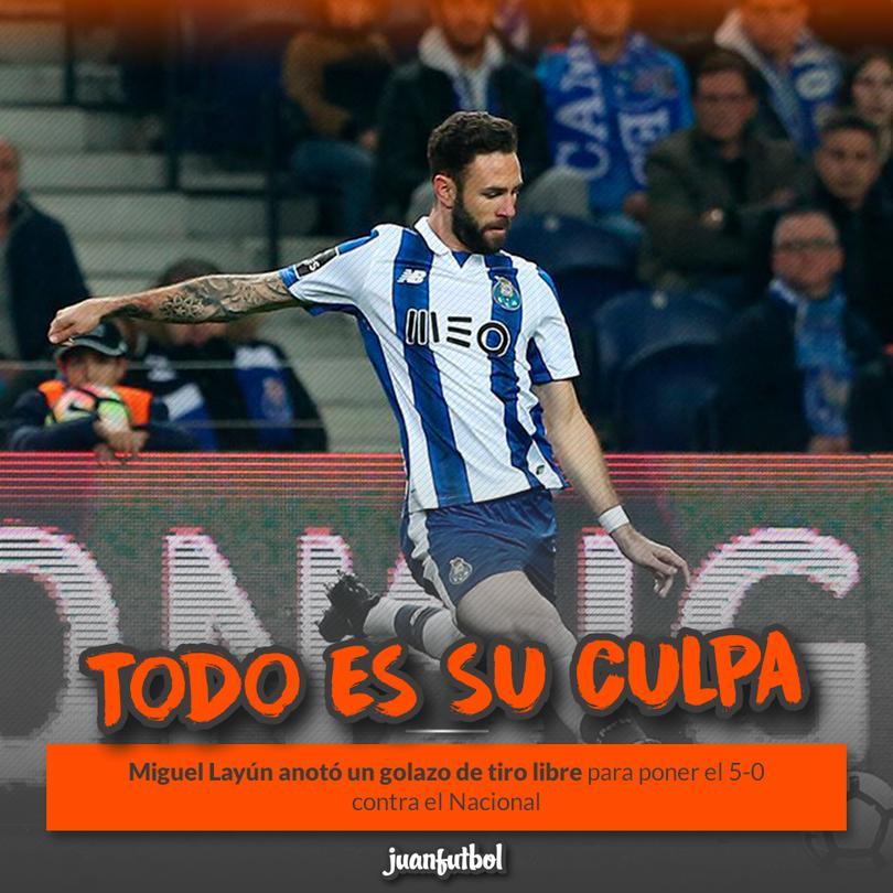Miguel Layún anotó el quinto gol del Porto