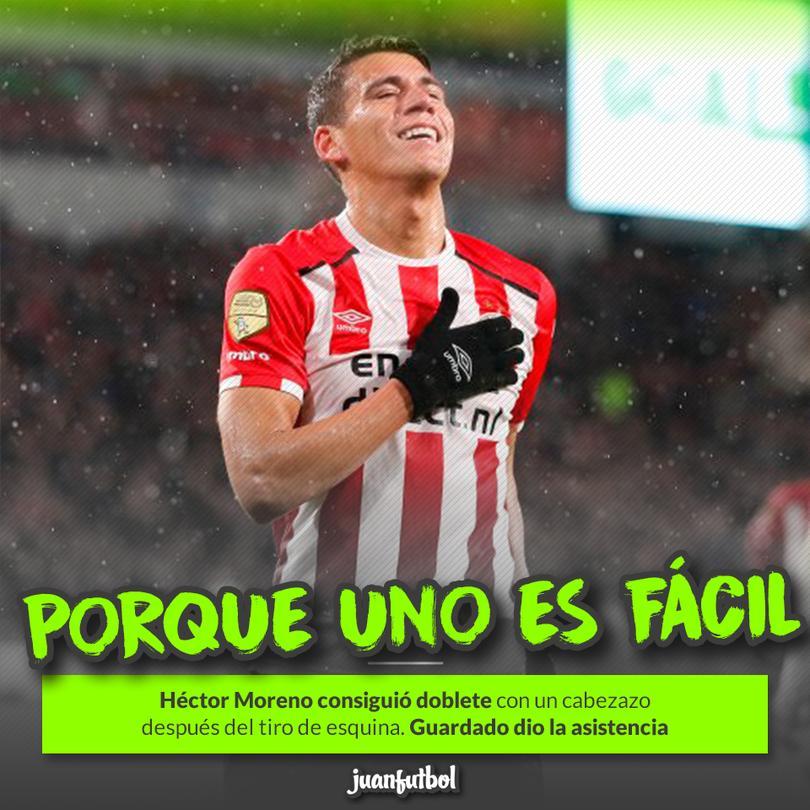 Héctor Moreno anota doblete