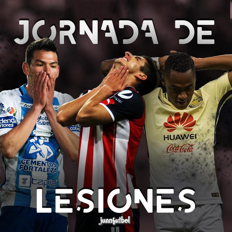 Tres lesionados ha sido el saldo de la jornada 9 de la Liga MX