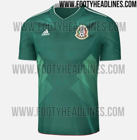 Camiseta local de México 2017