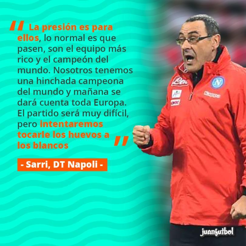 Sarri habló sobre lo que le harán al Real Madri