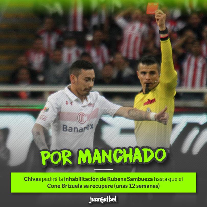 Rubens Sambueza lesionó a Isaac Brizuela el pasado sábado