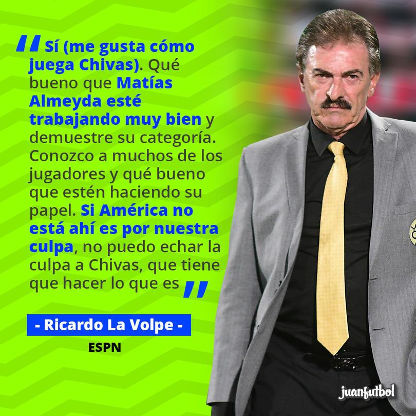 Ricardo La Volpe alabó a Almeyda y las Chivas
