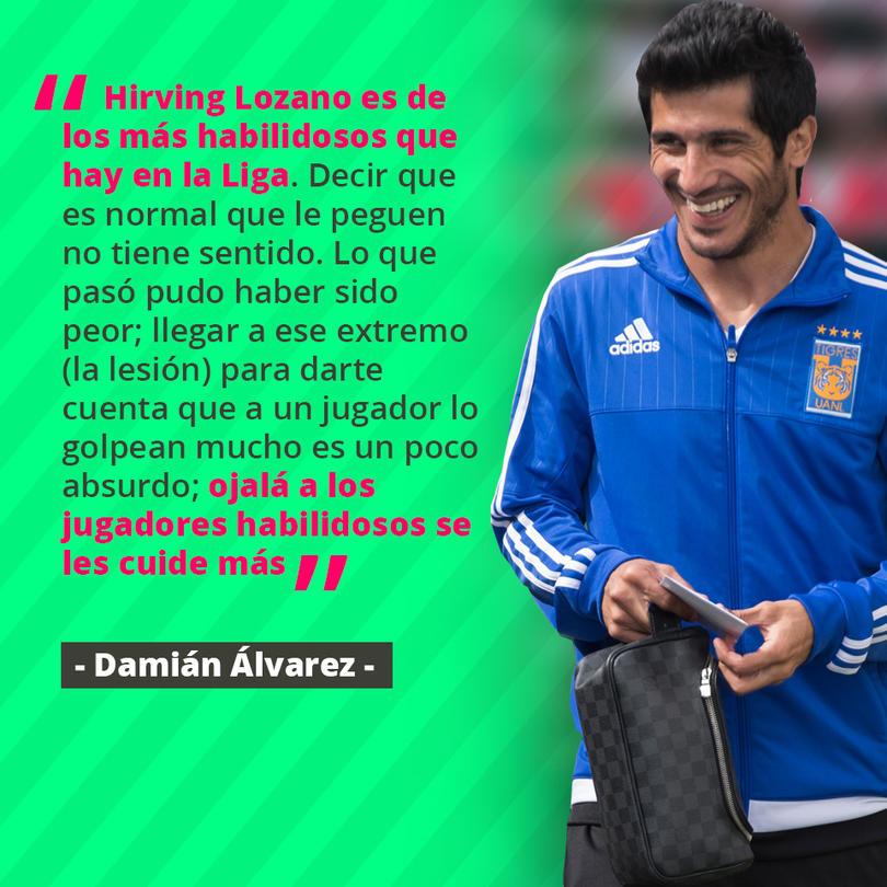 Damián Álvarez pidió que la Liga MX proteja más al Chucky Lozano