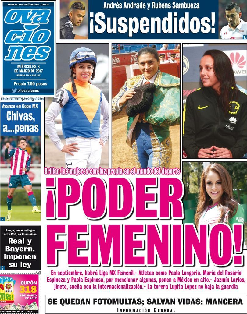 La prensa deportiva más importante del 8 de marzo de 2017