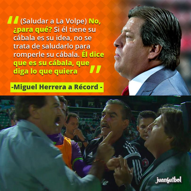 Herrera no saludará a La Volpe