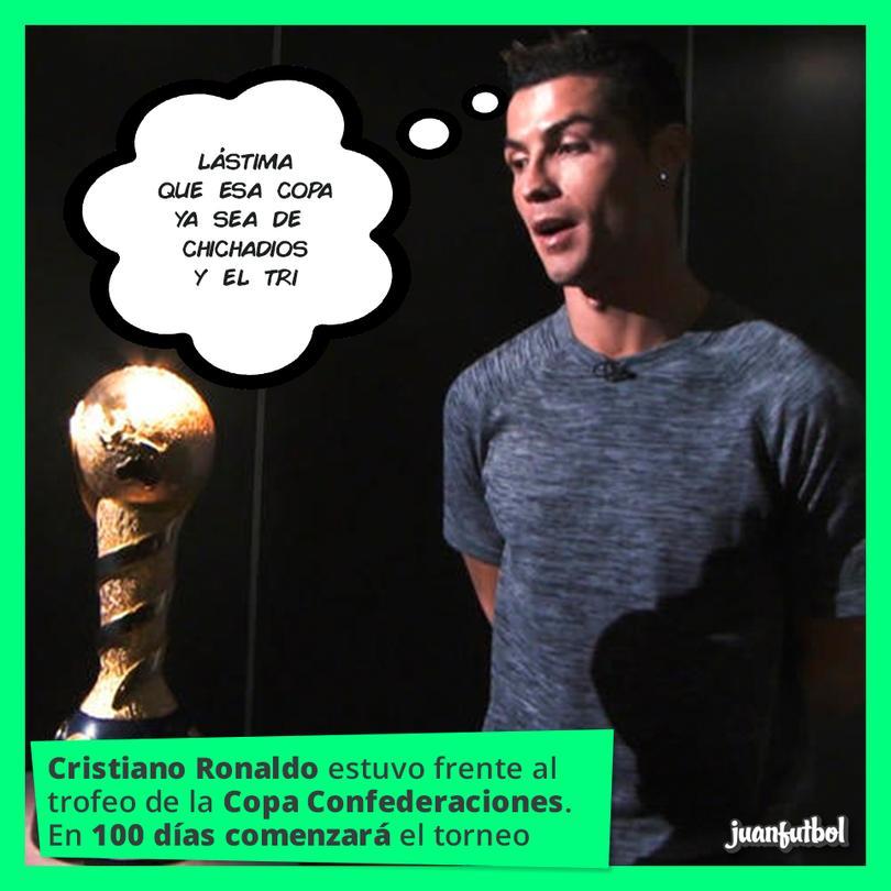 Cristiano Ronaldo estuvo con la Copa Confederaciones