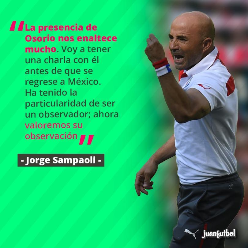 A Sampaoli le halagó la visita de Osorio