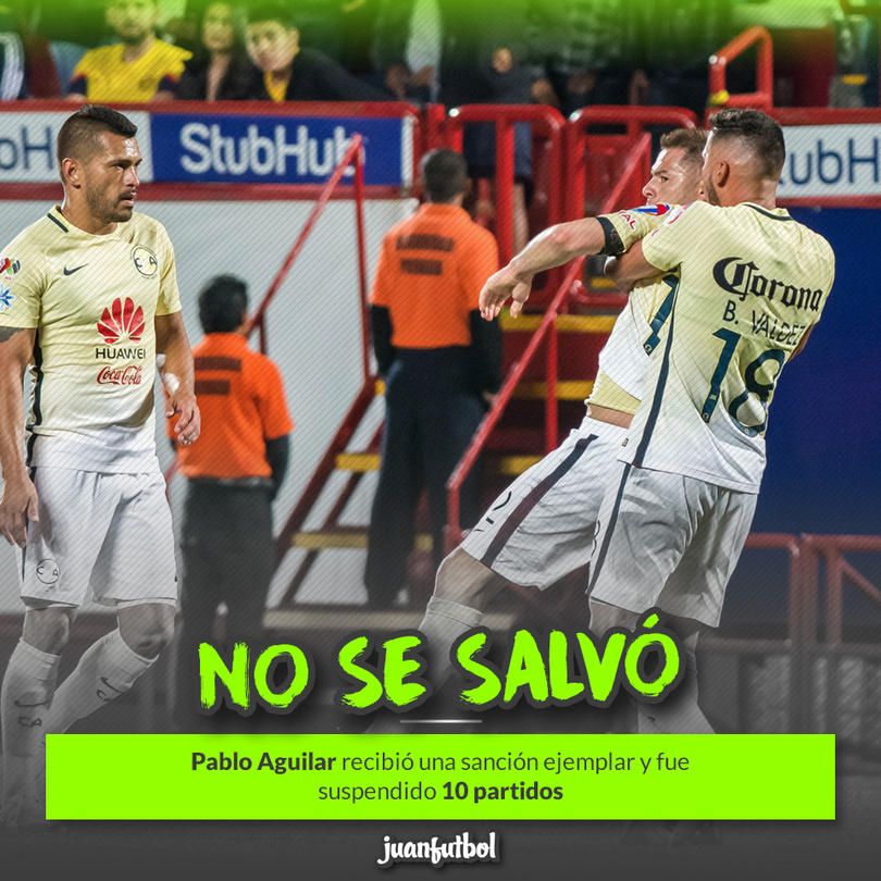 Pablo Aguilar se va 10 partidos por echarA bronca al árbitro