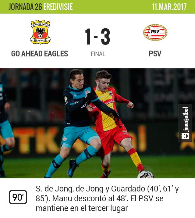 PSV gana al Go Ahead Eagles