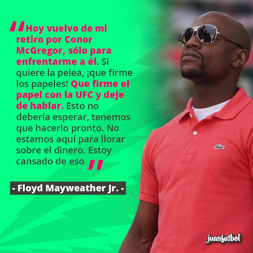 Floyd Mayweather retó a Connor McGregor y anunció que deja el retiro sólo para pelear con él