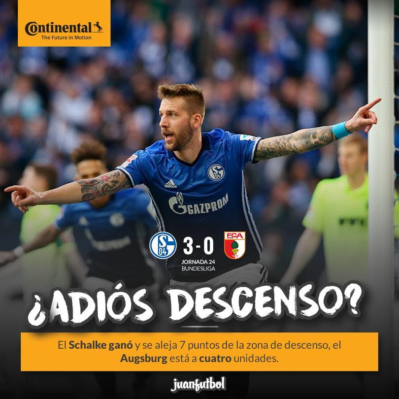 El Schalke le gana al Augsburg en casa y se aleja del descenso