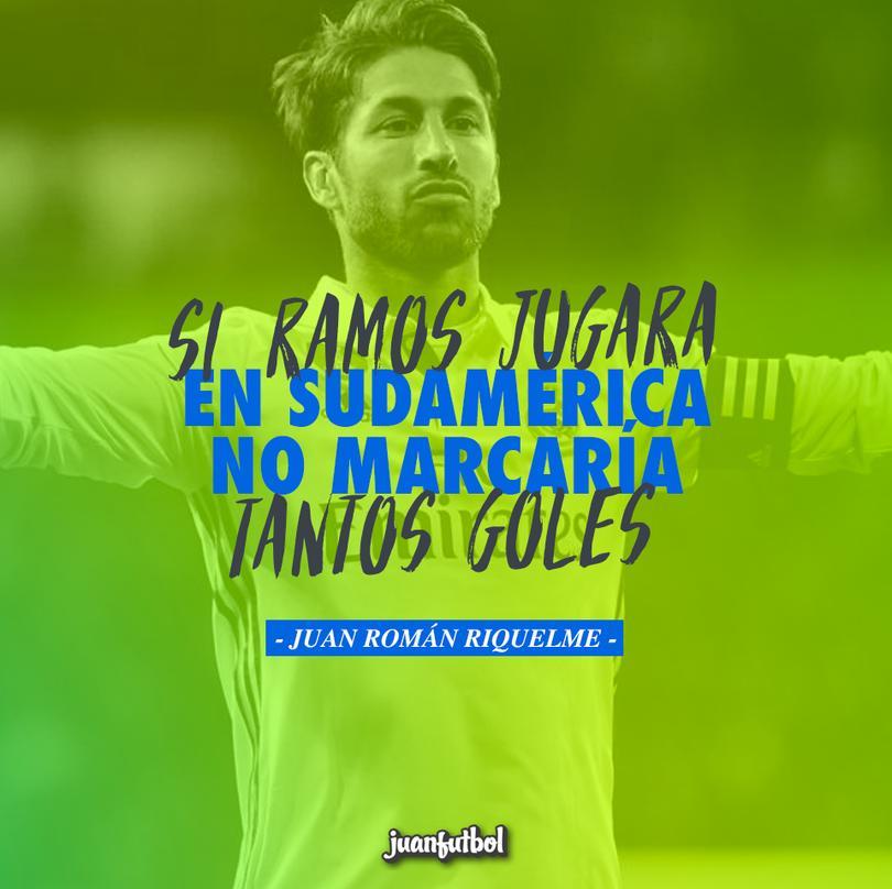 ¡Tómala, Sergio! Esto opina Riquelme de sus clásicos goles