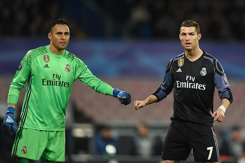 Navas y Ronaldo en la Champions